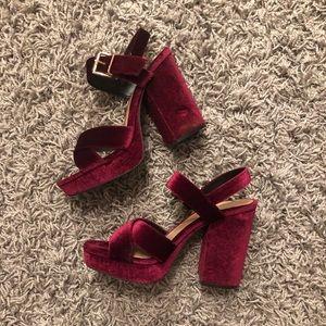 Mossimo Red Velvet Heels
